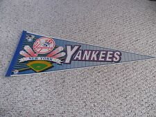 VINTAGE WINCRAFT NEW YORK YANKEES BASEBALL DIAMOND FULL SIZE PENNANT GENUINE MLB