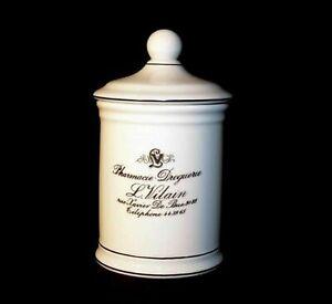 Large French Pharmacy Reproduction Bathroom Storage Jar