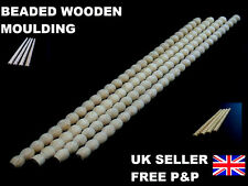 3 METRI Perline mouldnig Bordo Trim linea APPLIQUE shabby chic in legno stampaggio