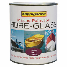 SUPPLYSHED Marine Boat Gloss WINE RED Paint for Fibreglass and GRP 750ml