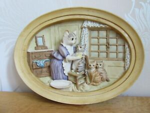 Border Fine Arts BEATRIX POTTER Wall Plaque This One Is Moppet Cat BOX & Stand