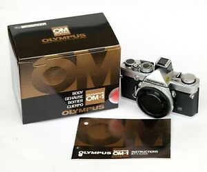 OLYMPUS OM1n 35mm SLR Camera Body NEW OLD STOCK MINT Cond in Box w Manual