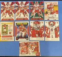 9 Kansas City Chiefs / Patrick Mahomes II, Edwards, NFL Panini Rookies & Stars