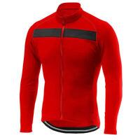 Mens Pro Cycling Jersey Long Sleeve Jacket Mountain Road MTB Bike Shirt Read Top