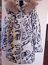 EMILIO PUCCI GOOSE DOWN  PUFFER PARKA ITALY COAT REAL FUR RACCOON SIZE 38 USA 8