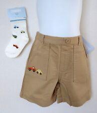 Gymboree Boys 18 24 Months Shorts Socks Tan Mr. Lovebug Car NWT