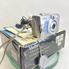 Vivitar ViviCam 3935 5.0mp Silver Digital Camera - Tested, Boxed, instruction