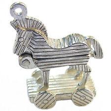 925 plata esterlina británica Caballo de Troya Anillos O Clip Encanto por soldada Bliss