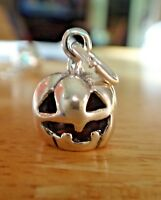 Sterling Silver 3D 3gram Halloween 14x11mm 3D Jack-O-Lantern Charm!
