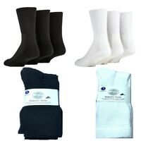 Mens Socks Diabetic Loose Top Extra Wide Fit Cotton Cushioned Work Sports Socks