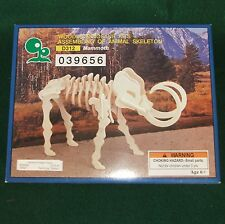 3D Wooden Dinosaur Mammoth Skeleton Puzzle by Iq Assembling Products New 6+