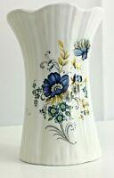 Vintage Royal Tara Fine Bone China Vase Galway Ireland 6 Ins Blue Floral Design