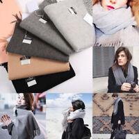 femmes hiver chaud cachemire uni Gland long Châle Pashmina Echarpe foulard