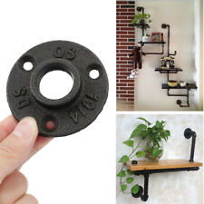 """3/4"""" Malleable Cast Iron Flange Base Wall Mount Threaded Floor Pipe Fitting Home"""