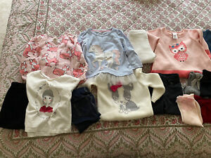 6 Baby Girl Outfits Socks & Shoes Sz 6-12 Months - Gymboree Gap Zara EUC
