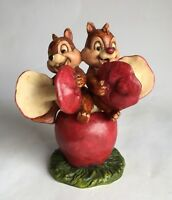 Disney Auctions Harmony Kingdom CHIP & DALE Trinket Box Figurine RARE HTF LE 500