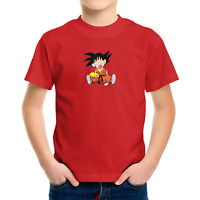 Toddler Kids Boy Tee T-Shirt Gift Print Shirts Anime Kid Cute Goku Pika Napping
