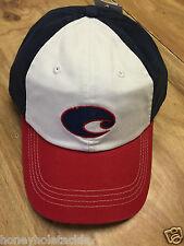 NEW COSTA DEL MAR TWILL LOGO ADJUSTABLE CAP HAT RED WHITE BLUE