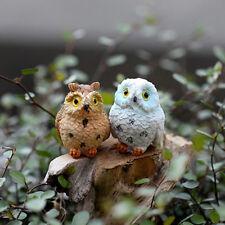 Miniature Fairy Garden Owl Ornament Outdoor  Home Decoration Color Random