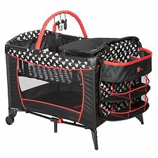 Disney Baby Mickey Mouse Sweet Silhouette Deluxe Playard Play Pen Bassinet NEW