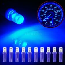 10x T5 Instrument Panel Gauge LED Bulbs Light 17 37 73 74 2721 Spread Blue