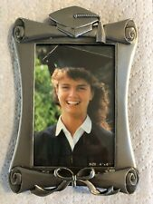 "Graduation Picture Frame For Vertical 4 x 6"". Pewter. Table Mount. NIB."