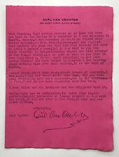 Photographer's Letter: CARL VAN VECHTEN TO CHARLES KEELER. 1934