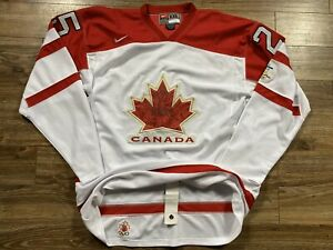Nike Canada Chris Pronger 2010 Vancouver Olympics Hockey Jersey XXL Fight Strap