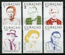 More details for curacao 2019 mnh musicians edgar palm julian b. coco 6v set people music stamps