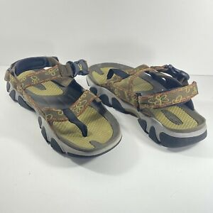 KEEN Open Toe Sandal SLING BACK WITH STRAP Brown Green Olive Size 10 # 0308