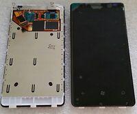 LCD Display Bildschirm +Touchscreen Glas Digitizer + Rahmen Für NOKIA Lumia 800