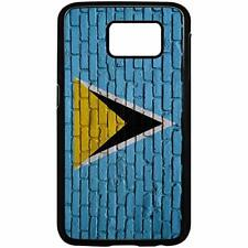Samsung Galaxy Case with Flag of Saint Lucia Options