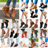 Women Ladies Low Mid Block Heels Ankle Boots Casual Chunky Booties Chelsea Shoes