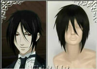 Black Butler Sebastian·Michaelis Short Black Cosplay Wig Hair