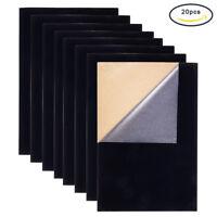 20pcs Velvet Fabric Sticky Back Adhesive Back Sheets Flocking Cloth 29.7x21cm