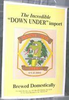 SNAKE BITE BEER / 1980'S QUEENSLAND, AUSTRALIA RECIPE POSTER MAN CAVE