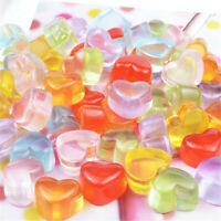 17x14x10mm Resin Cabochons Flatbacks Heart Shaped Candy Sweets Crafts Decor 20x