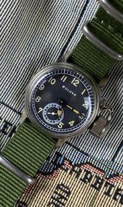 1940s BULOVA 17 Jewel Sub Seconds US Military Navy Dive Watch NOS WW2