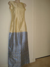 Traditional Hand Waved Ethiopian Eritrean dress 2 piece 100% c-Blue Beige