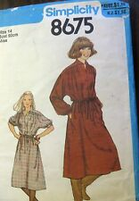 Simplicity sewing pattern no. 8675 Teens dress size 14