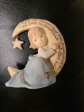 Foundations by Karen Hahn 2003 Figurine Girl Sitting on Moon 🌙 ~God Bless Me