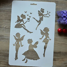 "Drawing Stencil Template for Art Kids Gift Album Stamping Painting Mold ""Faries"""