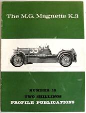 MG MAGNETTE K 3 PROFILE PUBLICATIONS NUMBER 15 McComb F. Wilson Car Book