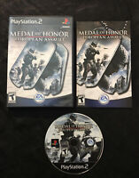 Medal of Honor European Assault — Complete! (Sony PlayStation 2,  ps2, 2005)