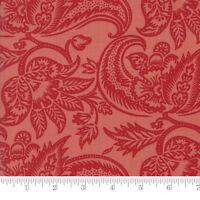 Per 1//4 Metre Moda Fabric Madame Rouge Terre Dijon