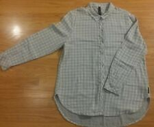 Seven 7 Women's Large Shirt Plaid Button Down Long Sleeve Fringe SUPERCUTE!