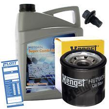 Ölwechsel Set 5L 5W-30 Öl Motoröl Lott + HENGST Ölfilter + Ablassschraube