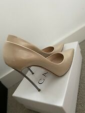 Casadei Nude Patent Blade Heels Size 10 (more like 9/9.5 small sizing)