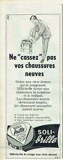 Publicité Advertising  029  1957  Solitaire  cirage chaussures Soli-brille