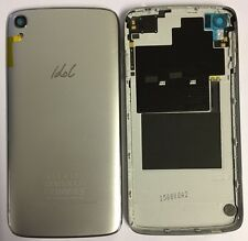 Alcatel One Touch Idol 6045K Silver Battery Back Cover Rear Shell
